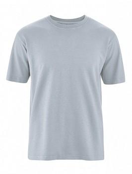 OTTFRIED pánské tričko s krátkým rukávem z biobavlny a konopí -  šedá platinová