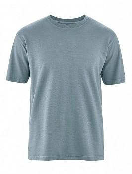 OTTFRIED pánské tričko s krátkým rukávem z biobavlny a konopí -  šedá petrol