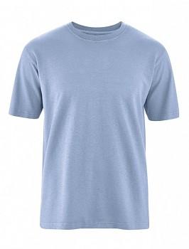 OTTFRIED pánské tričko s krátkým rukávem z biobavlny a konopí -  světle modrá rainsky