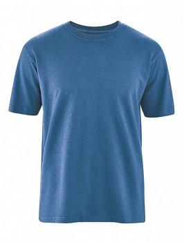 OTTFRIED pánské tričko s krátkým rukávem z biobavlny a konopí -  modrá sea