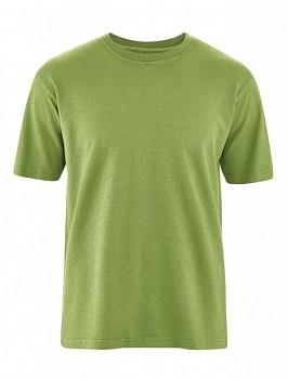 OTTFRIED pánské tričko s krátkým rukávem z biobavlny a konopí -  zelená weed