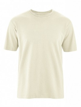 OTTFRIED pánské tričko s krátkým rukávem z biobavlny a konopí -  natur