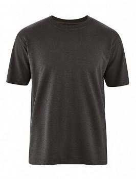 OTTFRIED pánské tričko s krátkým rukávem z biobavlny a konopí -  černá