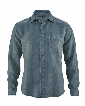 MITCH pánská košile ze 100% konopí - modrá deep