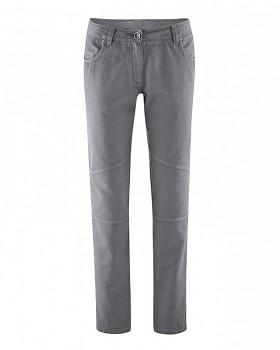 MAIKE dámské kalhoty z biobavlny a konopí - šedá stone