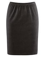 HOLLY dámská úpletová sukně z konopí a biobavlny - černá