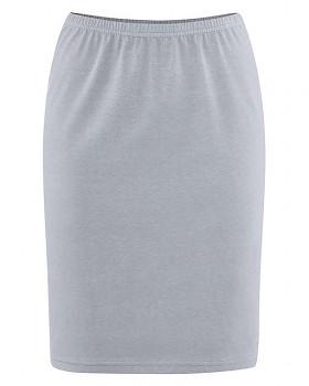 HOLLY dámská úpletová sukně z konopí a biobavlny - šedá cínová