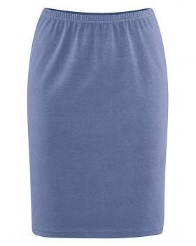 HOLLY dámská úpletová sukně z konopí a biobavlny - modrá borůvková