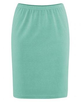 HOLLY dámská úpletová sukně z konopí a biobavlny - zelená nefritová