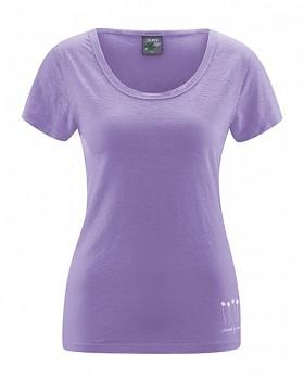 HARIET dámské triko s krátkými rukávy ze 100% konopí - fialová lila