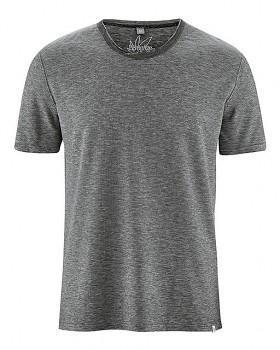 URS pánské tričko s krátkými rukávy z biobavlny a konopí - wintersky melange