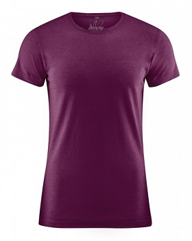 OTTO pánské tričko z biobavlny a konopí - fialová burgundy