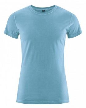 BRISCO pánské tričko z biobavlny a konopí - světle modrá caribic