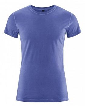 BRISCO pánské tričko z biobavlny a konopí - modrá chrpová