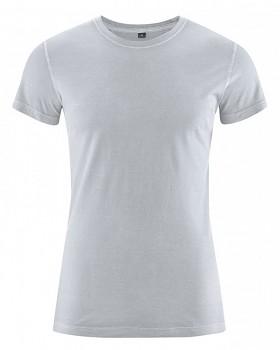 BRISCO pánské tričko z biobavlny a konopí - šedá platinová