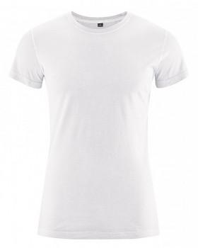 BRISCO pánské tričko z biobavlny a konopí - bílá