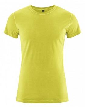 BRISCO pánské tričko z biobavlny a konopí - zelená apple