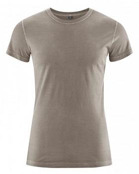 BRISCO pánské tričko z biobavlny a konopí - hnědá bark
