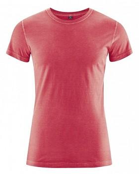 BRISCO pánské tričko z biobavlny a konopí - červená chilli