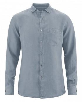 EMPEROR pánská košile ze 100% konopí - šedá aloe