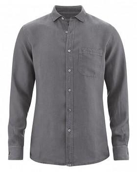 EMPEROR pánská košile ze 100% konopí - šedá stone
