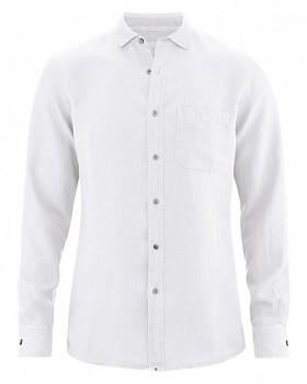 EMPEROR pánská košile ze 100% konopí - bílá
