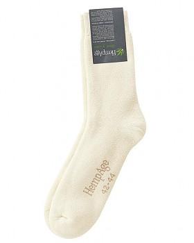 TERRY Froté ponožky z konopí a biobavlny - přírodní