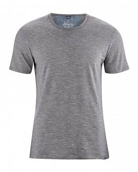 MARC pánské tričko s krátkým rukávem z biobavlny a konopí -  melange