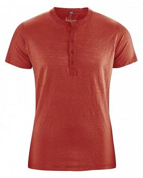 PRINCE pánské tričko ze 100% konopí - červená šípková