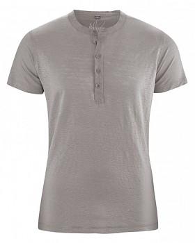 PRINCE pánské tričko ze 100% konopí - šedohnědá mud