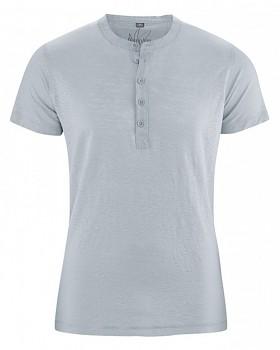 PRINCE pánské tričko ze 100% konopí - šedá platinová