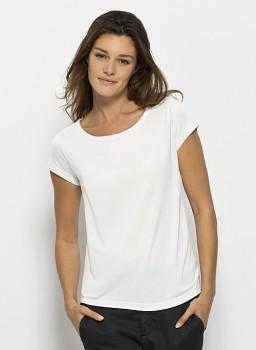 STELLA GLOWS MODAL Dámské tričko s krátkými rukávy ze 100% modalu - bílá