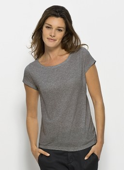 STELLA GLOWS MODAL Dámské tričko s krátkými rukávy ze 100% modalu - šedá heather