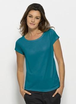 STELLA GLOWS MODAL Dámské tričko s krátkými rukávy ze 100% modalu - modrozelená ocean