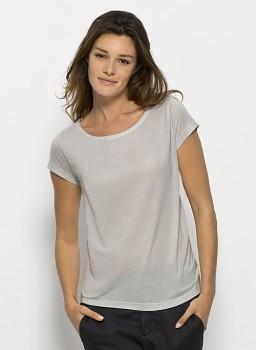 STELLA GLOWS MODAL Dámské tričko s krátkými rukávy ze 100% modalu - šedá violet