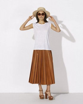 STELLA SPARKLES Dámské tričko s lurexem ze 100% lnu - bílá