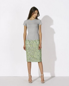 STELLA RECALLS dámské tričko s krátkými rukávy z 100% biobavlny - šedá melange