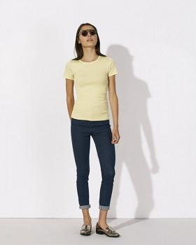 STELLA RECALLS dámské tričko s krátkými rukávy z 100% biobavlny - světle žlutá melange
