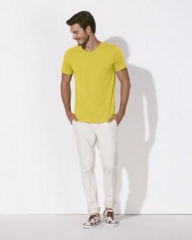 STANLEY LEADS Pánské tričko s krátkým rukávem ze 100% biobavlny - žlutá maize