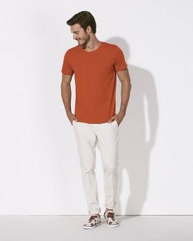 STANLEY LEADS Pánské tričko s krátkým rukávem ze 100% biobavlny - oranžová