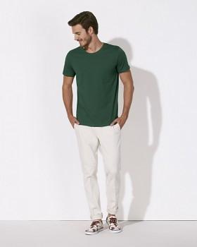 STANLEY LEADS Pánské tričko s krátkým rukávem ze 100% biobavlny - lahvově zelená