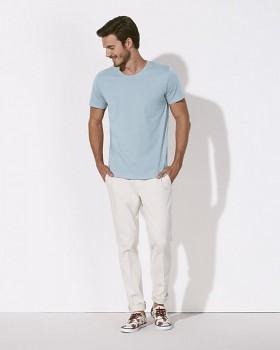 STANLEY LEADS Pánské tričko s krátkým rukávem ze 100% biobavlny - světle modrá sky