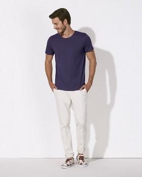 STANLEY LEADS Pánské tričko s krátkým rukávem ze 100% biobavlny - fialová plum