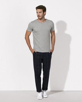 STANLEY LEADS Pánské tričko s krátkým rukávem ze 100% biobavlny - světle šedá heather melange
