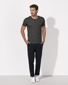 STANLEY LEADS Pánské tričko s krátkým rukávem ze 100% biobavlny - tmavě šedá heather melange