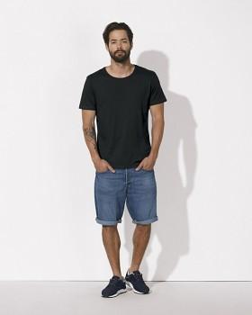STANLEY ENJOYS MODAL Pánské tričko s krátkým rukávem z modalu a biobavlny - černá
