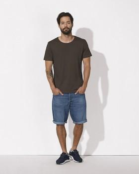 STANLEY ENJOYS MODAL Pánské tričko s krátkým rukávem z modalu a biobavlny - hnědá čokoládová