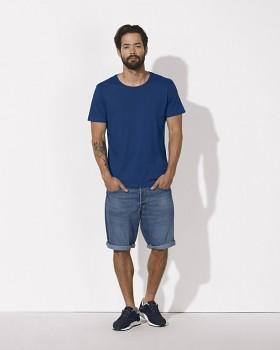 STANLEY ENJOYS MODAL Pánské tričko s krátkým rukávem z modalu a biobavlny - modrá deep royal