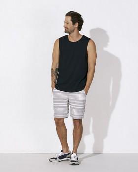 STANLEY SURFS Pánské tričko bez rukávů ze 100% biobavlny - černá