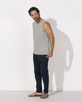 STANLEY SURFS Pánské tričko bez rukávů ze 100% biobavlny - šedá melange